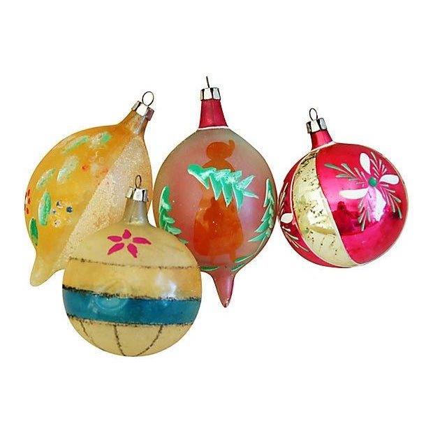 1950s Christmas Ornaments with Box - Set of 12 - Image 6 of 9