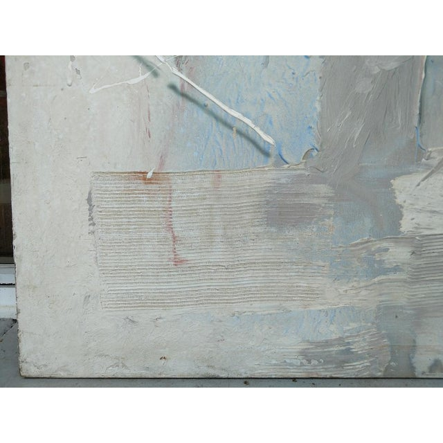 1980s Oversized Abstract Painting Sing by the Artist From 1980's For Sale - Image 5 of 8