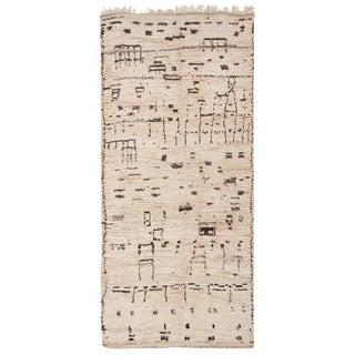 Vintage Moroccan Wool Rug - 4′4″ × 9′2″ For Sale