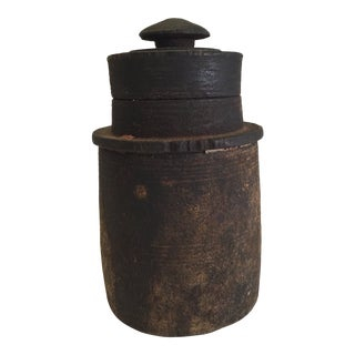 19th Century Wooden Vessel For Sale