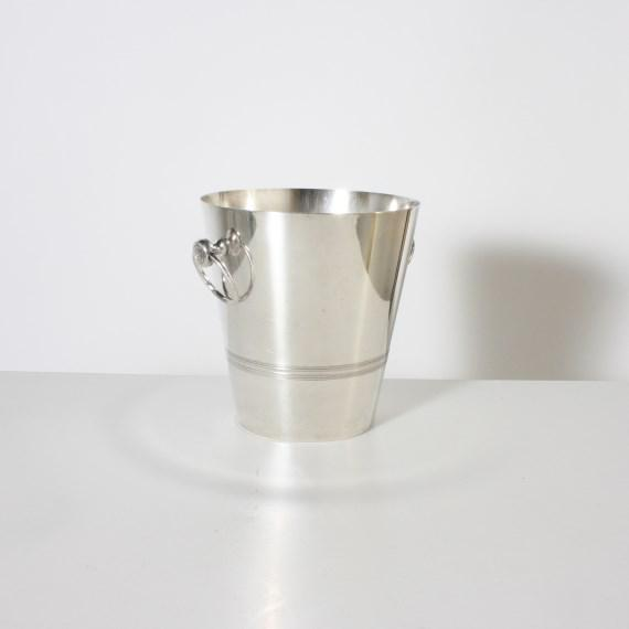 Stamped silver plated ice bucket, c. 1960.