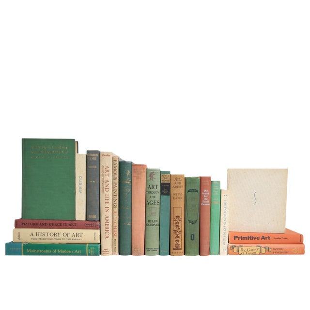 Vintage Earthtone Art Scholar Book Set, S/20 For Sale