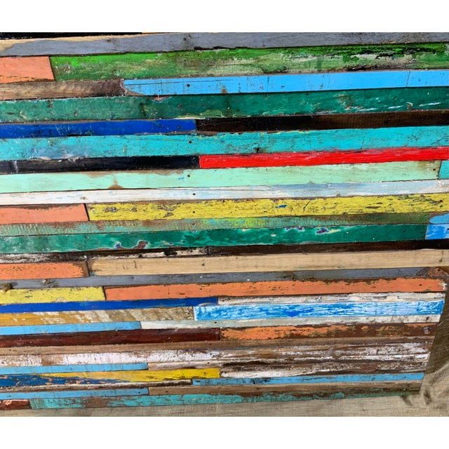 Abstract Reclaimed Wood Wall Sculpture For Sale - Image 10 of 13
