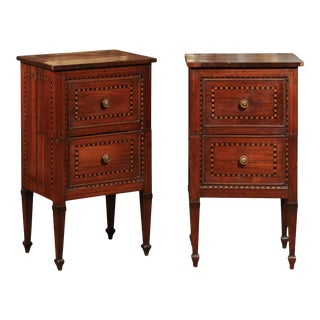19th C. Italian Bedside Commodes - a Pair For Sale