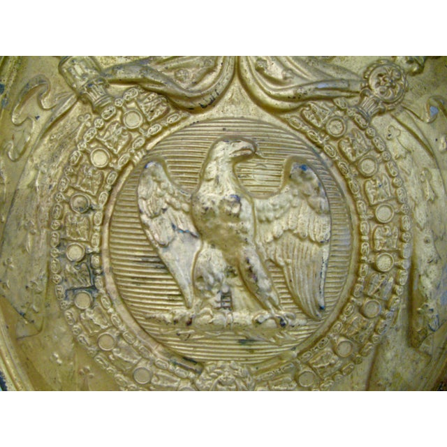 Rare French 1st Empire Brass Oval Notary Plaque C.1804-1812 For Sale In West Palm - Image 6 of 13