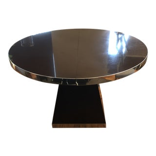 1970s Modern Pierre Cardin Round Chocolate Brown Dining/Center Table For Sale
