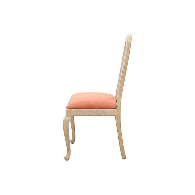 Queen Anne Blush Dining Chairs - Set of 6 - Image 3 of 7