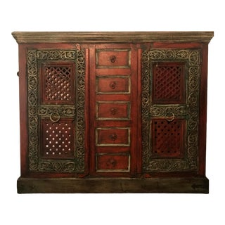 Indian Wooden Armoire For Sale