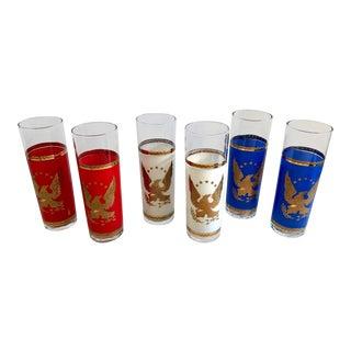 Vintage Patriotic Collins Iced Tea Glasses - Set of 6 For Sale
