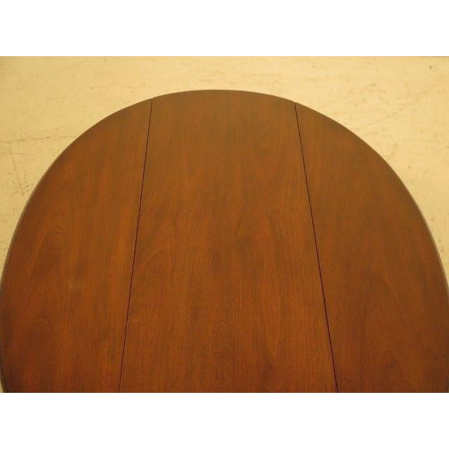 1960s Traditional Kittinger Drop Leaf Mahogany Coffee Table For Sale - Image 10 of 12