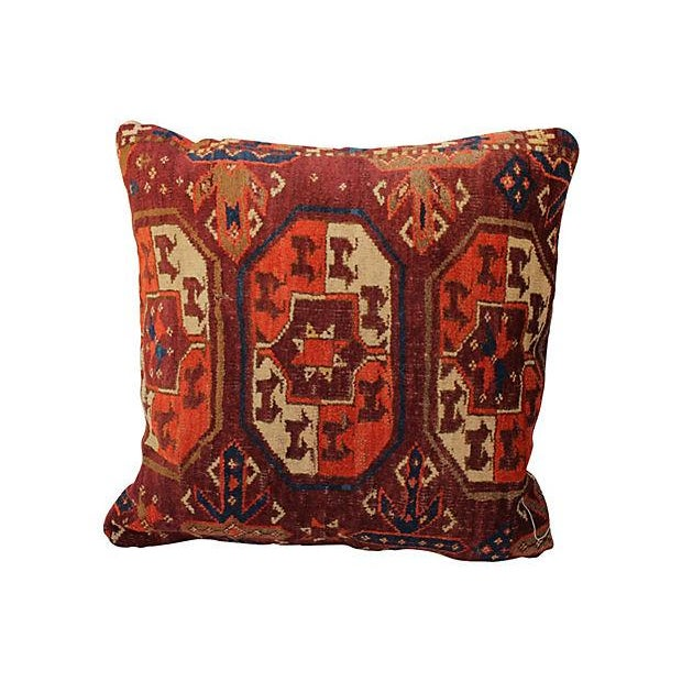 Antique Turkish Rug Pillow For Sale
