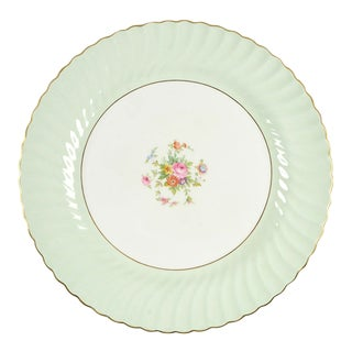 "Minton Dawn Pale Green 15"" Round Platter For Sale"