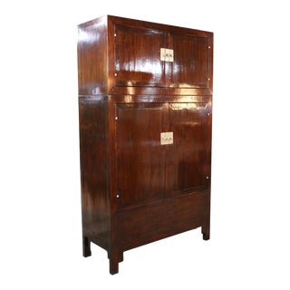 Elm Compound Cabinet C1880 For Sale