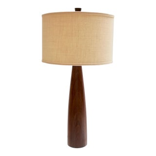 1960s Walnut Table Lamp by Gordon and Jane Martz for Marhsall Studios For Sale