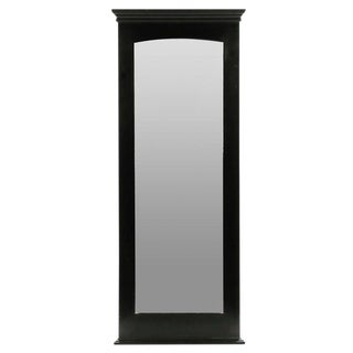 Tall Neoclassical Ebonized Wall Mirror