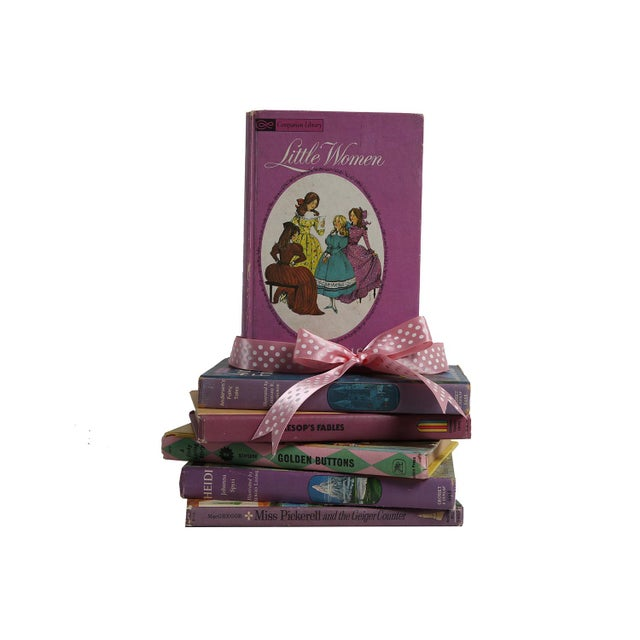 "Midcentury Book Gift Set: ""Lilac"" Stories For Girls - Set of 6 - Image 2 of 5"