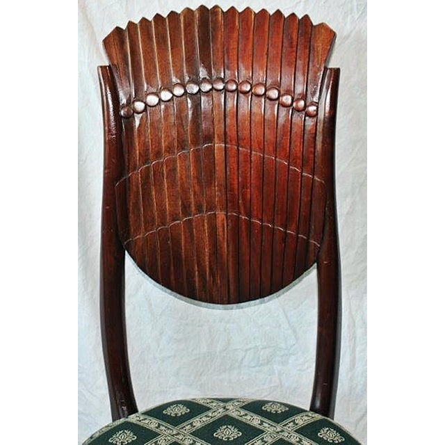 Scallop-Carved Side Chair For Sale In West Palm - Image 6 of 7