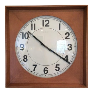 Modern Ethan Allen Wooden Wall Clock For Sale