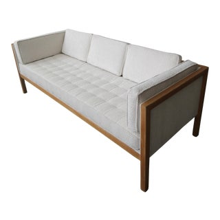 George Nelson Cube Group Oak Frame Sofa For Sale