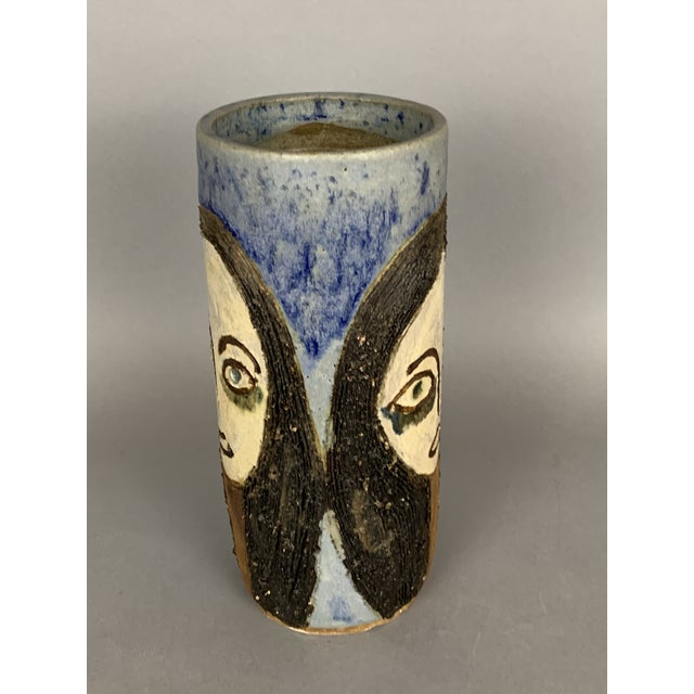 Mid-Century Face Vase, Signed Studio Pottery For Sale In Washington DC - Image 6 of 11