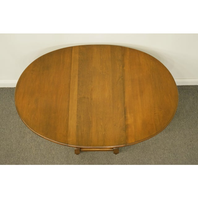 20th Century Country Jamestown Ny Solid Walnut Maddox Table For Sale - Image 11 of 13