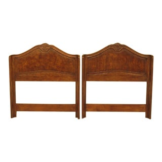 Drexel French Louis XV Style Walnut Twin Bed Headboards - a Pair