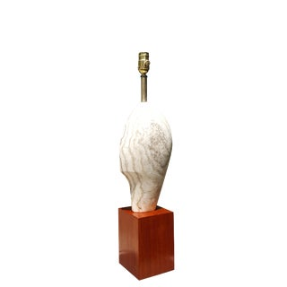 1950s Modern Art Brancusi Style Mid-Century Marble Head Lamp For Sale