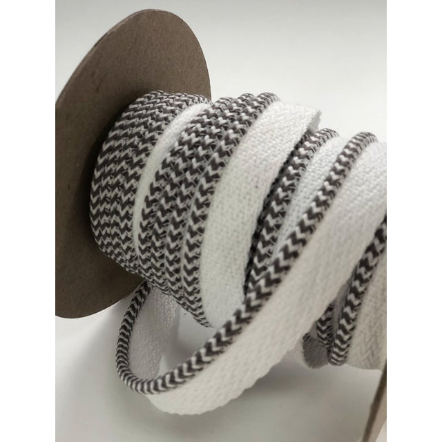 """Braided 1/8"""" Indoor-Outdoor White-Gray Cord For Sale In New York - Image 6 of 10"""