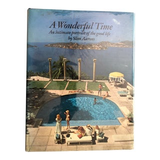 """1970s """"A Wonderful Time"""" Slim Aarons First Edition Book For Sale"""