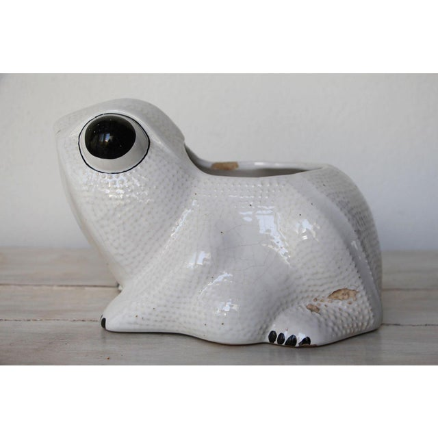 1970s 1970s Hobnail Frog Planter in the Style of Jean Roger For Sale - Image 5 of 13
