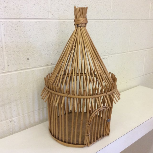 Vintage Bamboo Birdcage - Image 3 of 8