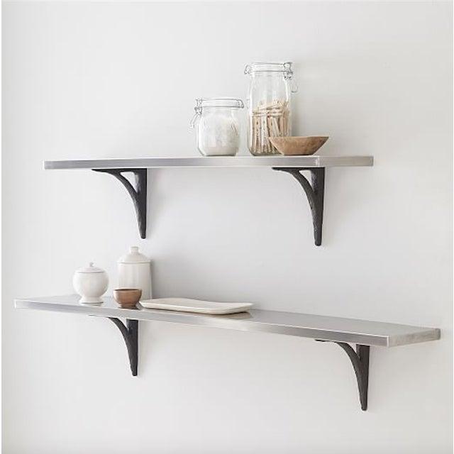 Modern Cast Iron Black Shelf Brackets - Set of 6 - Image 11 of 11
