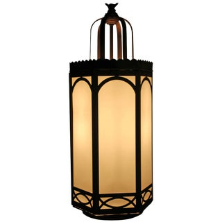 Gothic Cathedral Style Hanging Lamp For Sale