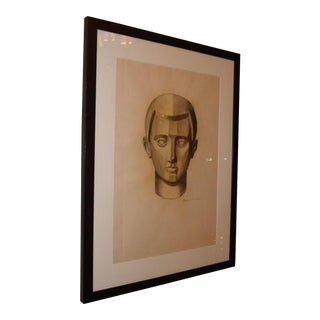 A Cubist Charcoal Drawing on Paper by Emery (signed)
