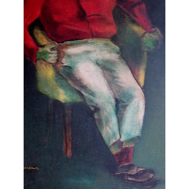 Mid-Century Fauvist Portrait of a Man - Image 5 of 8