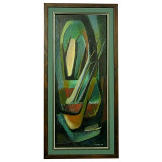Colorful Jean Devaud Abstract Painting For Sale