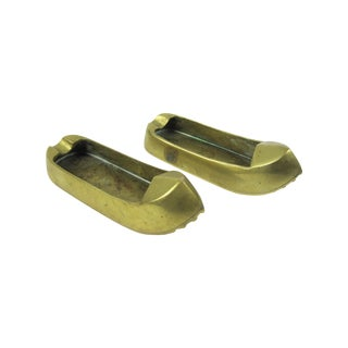 Brass Turkish Shoes Ashtray Catchalls - A Pair