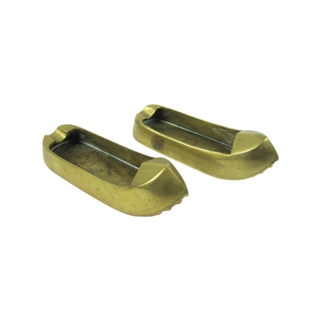 Brass Turkish Shoes Ashtray Catchalls - A Pair - Image 1 of 4