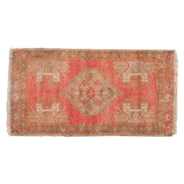 "Textile Vintage Distressed Oushak Rug Mat - 1'7"" X 2'11"" For Sale - Image 7 of 7"