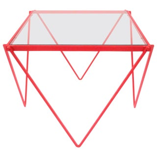 Postmodern Red Side or End Table in the Style of Paolo Piva, Ca. 1980s For Sale