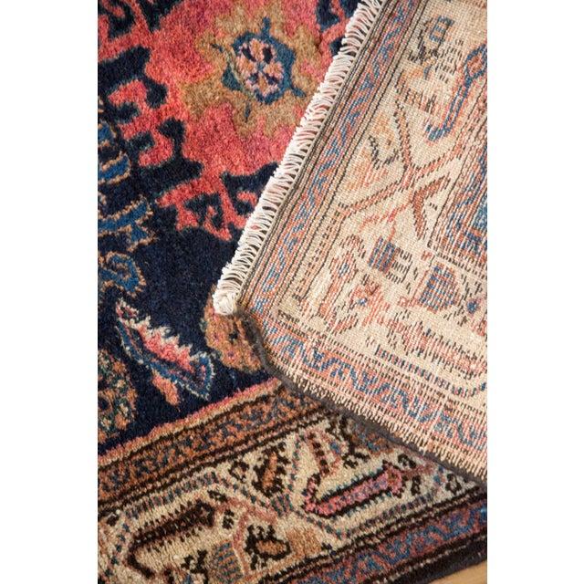 """Blue Vintage Fine Hamadan Rug - 2'10"""" X 4'4"""" For Sale - Image 8 of 9"""