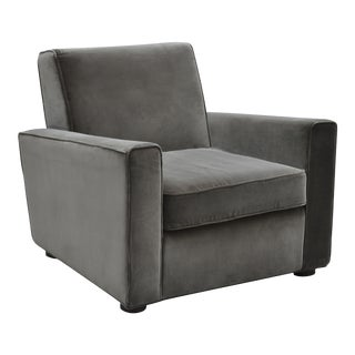Chase Club Chair, Dark Gray For Sale