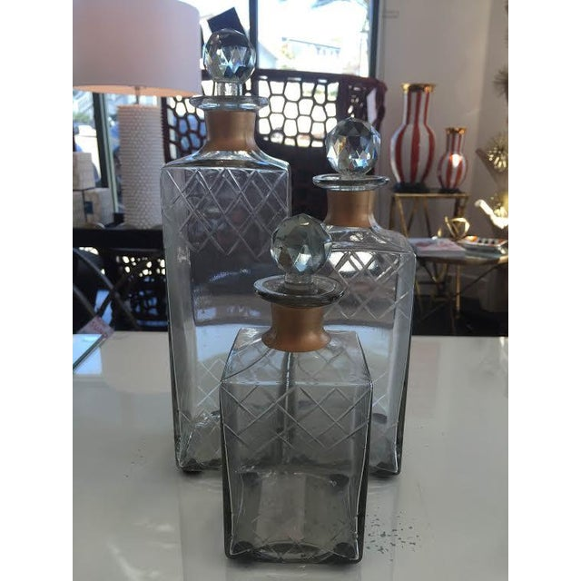 Etched Glass Decorative Decanters - Set of 2 - Image 5 of 5