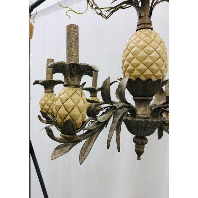Metal Vintage Pineapple Chandelier For Sale - Image 7 of 8