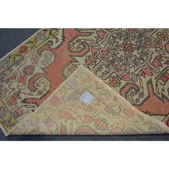 Textile Vintage Turkish Rug - 4'4″x7'3″ For Sale - Image 7 of 8