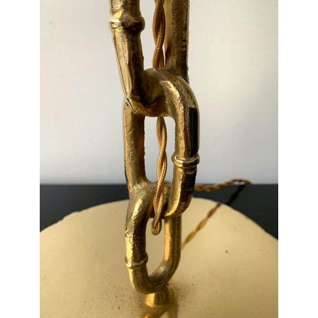 Franz West Pair of Brass Chain Lamps. Italy, 1990s For Sale - Image 4 of 10