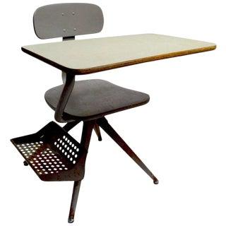 Architectural School Desk After Prouve For Sale