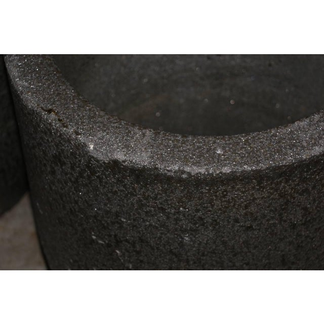 Large Heavy Smelting Crucibles - a Pair For Sale - Image 9 of 11