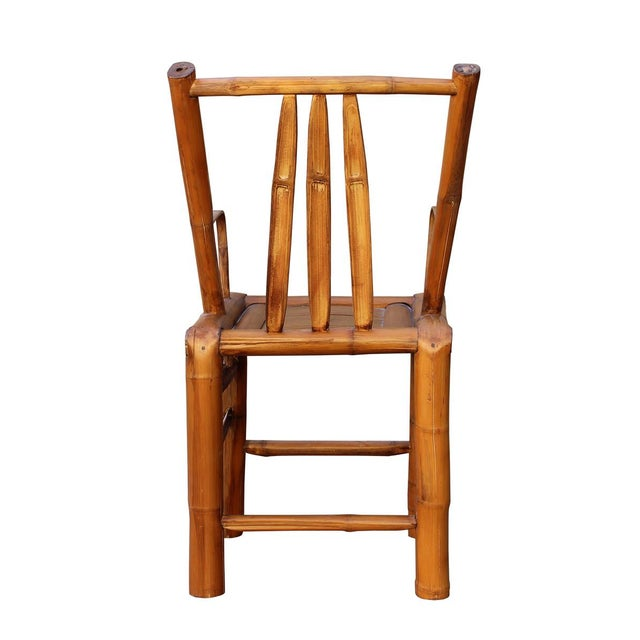 Chinese Zen Style Bamboo Reclining Arm Chair - Image 5 of 6