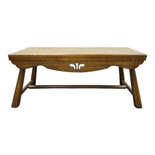 Old Hickory Furniture Co. Arts & Crafts Oak Bench Coffee Table For Sale